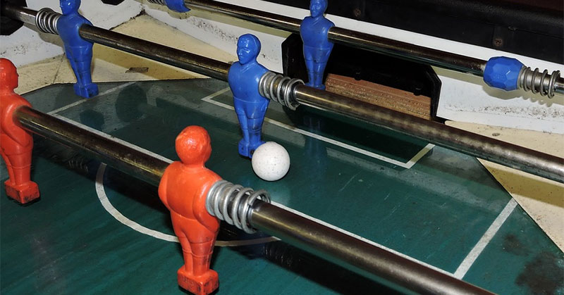 foosball in play