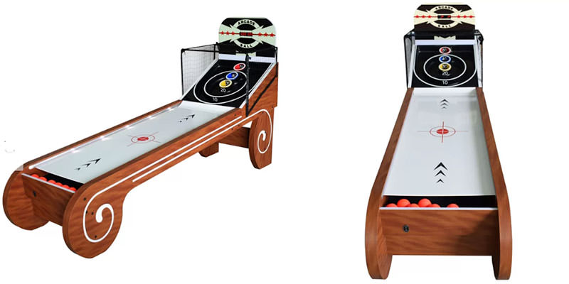 Hathaway Boardwalk 8-ft Skeeball Table Electronic Scoring w Balls & Net