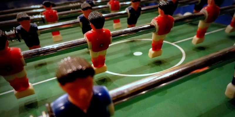 foosball men closeup angle